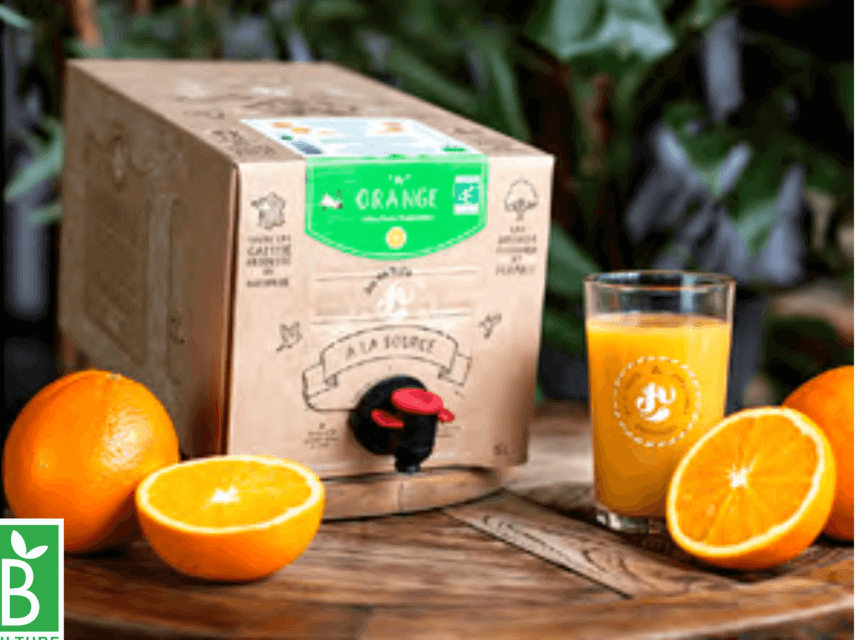 Box de jus de fruits Orange BIO