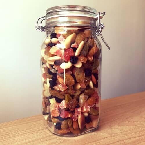 Bocal de fruits secs
